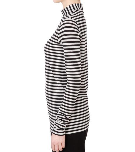 LE CIEL BLEU(ルシェルブルー)の8×8ボーダーロングスリーブトップス-BLACK(カットソー/cut and sewn)-18S62011 詳細画像2