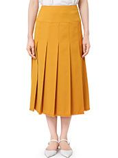 LE CIEL BLEU Wクローズプリーツスカート