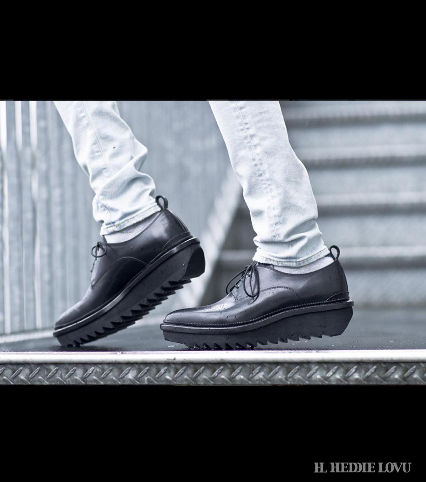 HL HEDDIE LOVU(エイチエル・エディールーヴ)のSHIRKSOLE SHOES-BLACK(シューズ/shoes)-18S90001-13 拡大詳細画像6