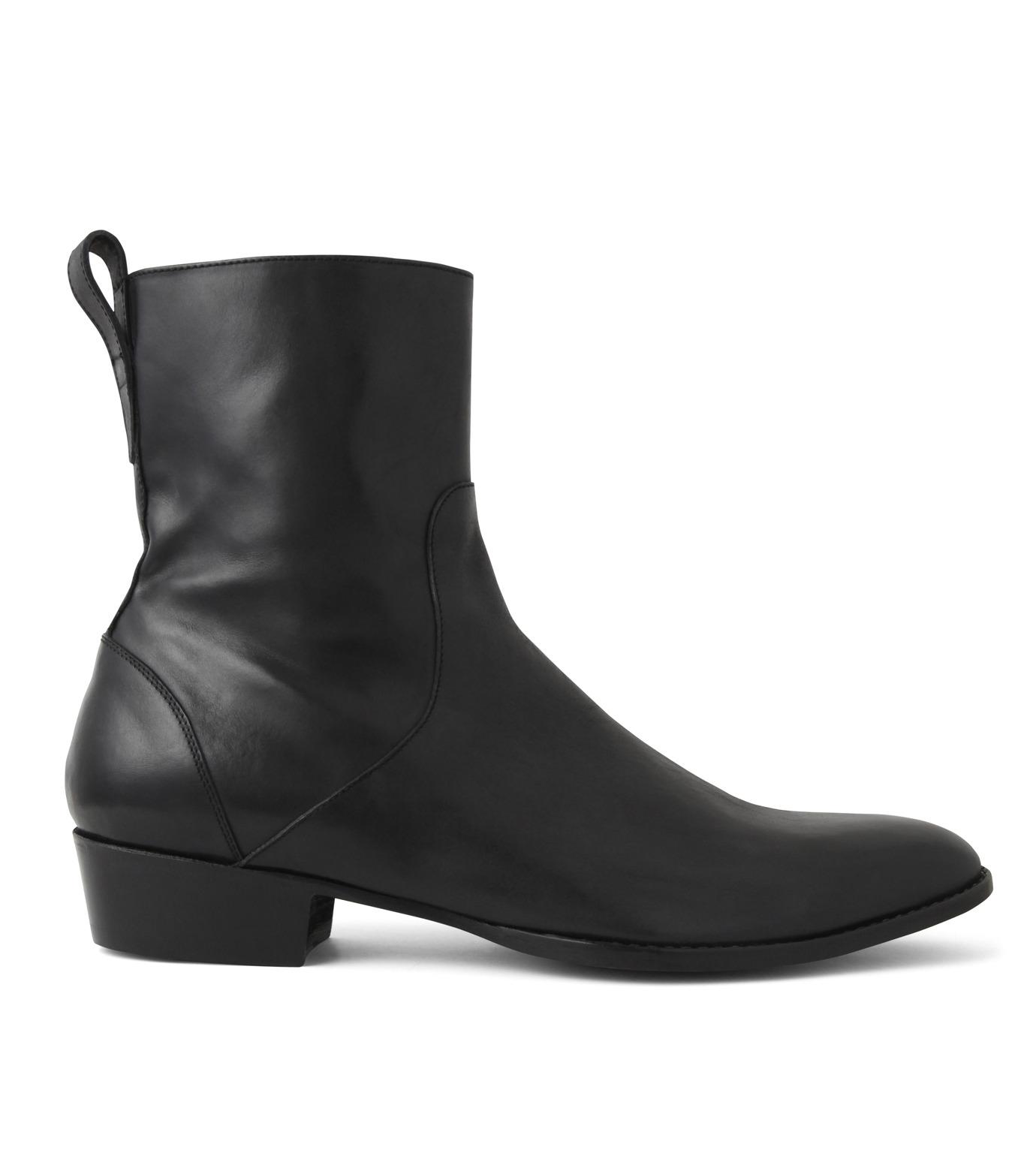 HL HEDDIE LOVU(エイチエル・エディールーヴ)のSIDE ZIP BOOTS-BLACK(シューズ/shoes)-18S90002-13 拡大詳細画像1