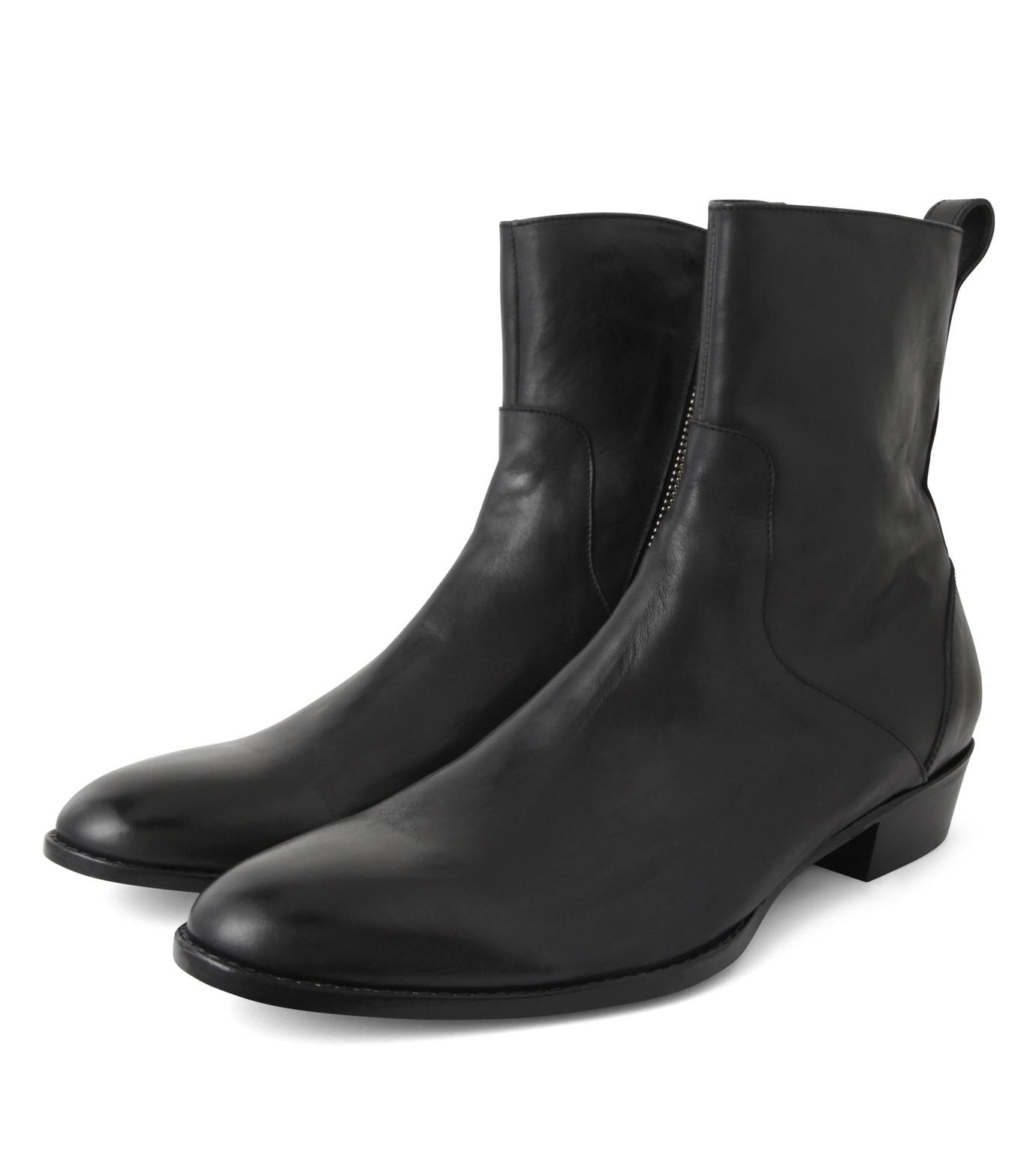 HL HEDDIE LOVU(エイチエル・エディールーヴ)のSIDE ZIP BOOTS-BLACK(シューズ/shoes)-18S90002-13 拡大詳細画像4