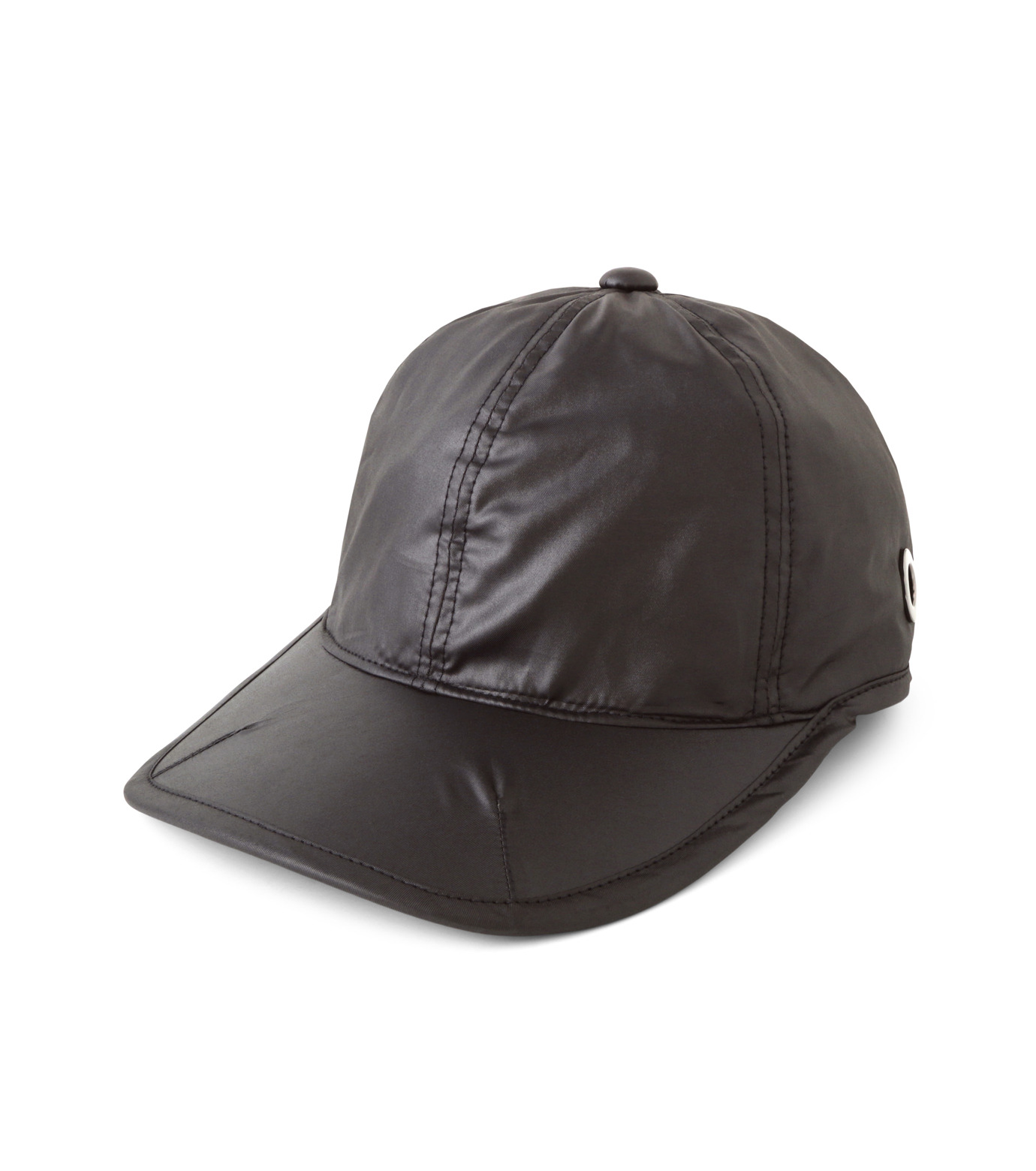 HEY YOU !(ヘイユウ)のWASHED TWILL CAP-BLACK(HATS/HATS)-18S90023-13 拡大詳細画像1