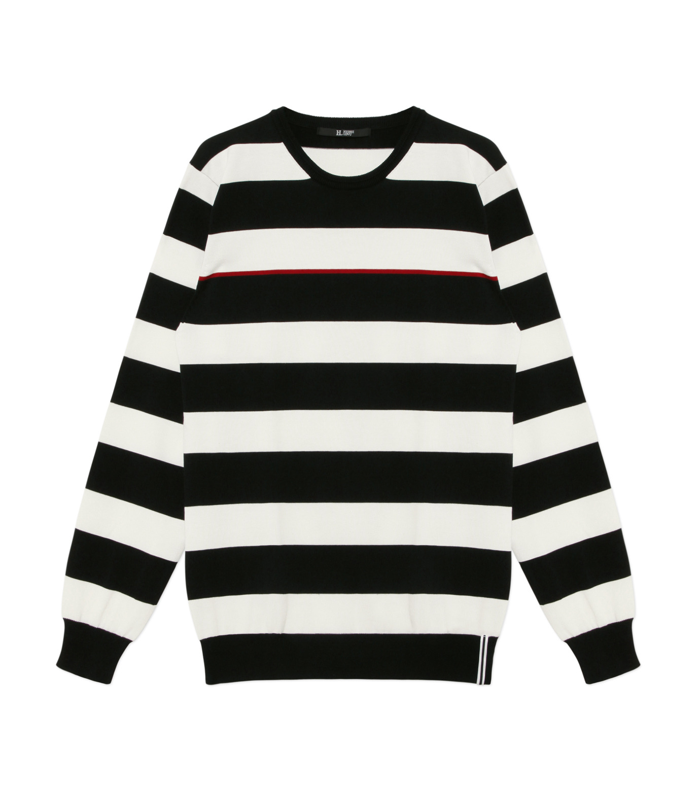 HL HEDDIE LOVU(エイチエル・エディールーヴ)のWIDE PITCH BORDER KNIT-BLACK(SWEATERS & KNITWEARS/SWEATERS & KNITWEARS)-18S91001-13 拡大詳細画像1