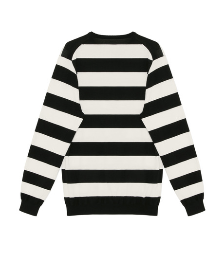 HL HEDDIE LOVU(エイチエル・エディールーヴ)のWIDE PITCH BORDER KNIT-BLACK(SWEATERS & KNITWEARS/SWEATERS & KNITWEARS)-18S91001-13 詳細画像2