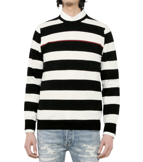 HL HEDDIE LOVU(エイチエル・エディールーヴ)のWIDE PITCH BORDER KNIT-BLACK(SWEATERS & KNITWEARS/SWEATERS & KNITWEARS)-18S91001-13 詳細画像3