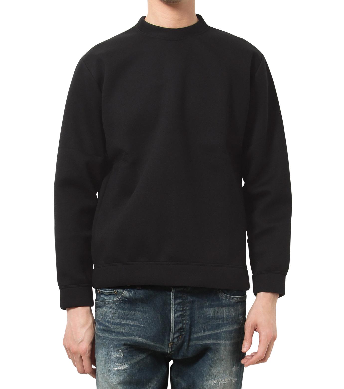 HL HEDDIE LOVU(エイチエル・エディールーヴ)のBONDING SWEATSHIRT-BLACK(カットソー/cut and sewn)-18S92001-13 拡大詳細画像1