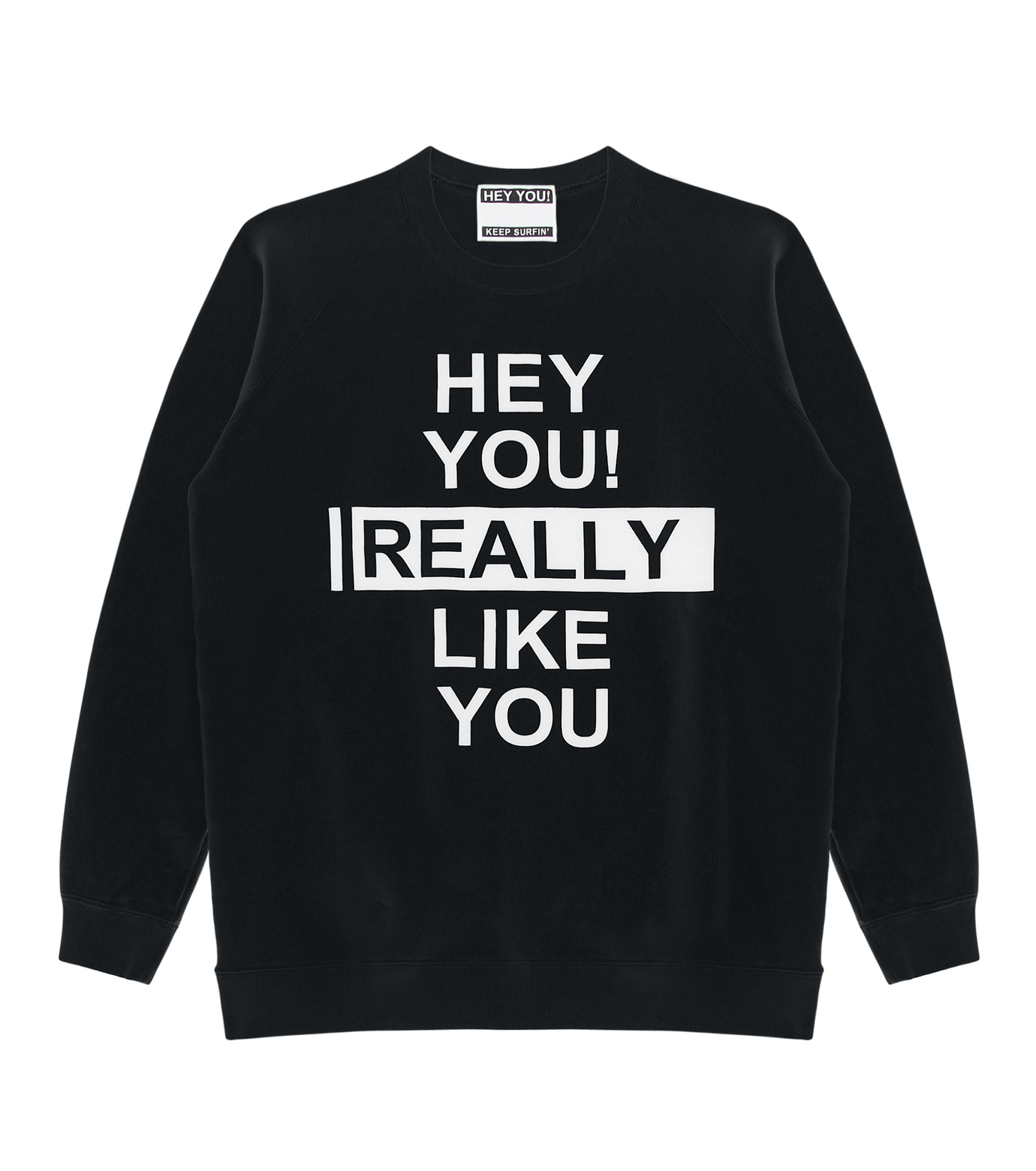 HEY YOU !(ヘイユウ)のHEY YOU LIKE YOU-BLACK(カットソー/cut and sewn)-18S92003-13 拡大詳細画像1