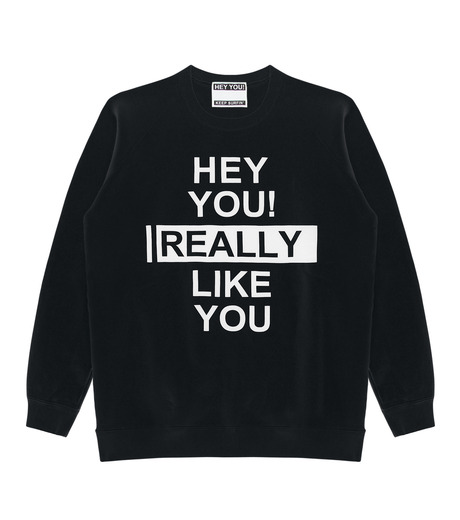 HEY YOU !(ヘイユウ)のHEY YOU LIKE YOU-BLACK(カットソー/cut and sewn)-18S92003-13 詳細画像1