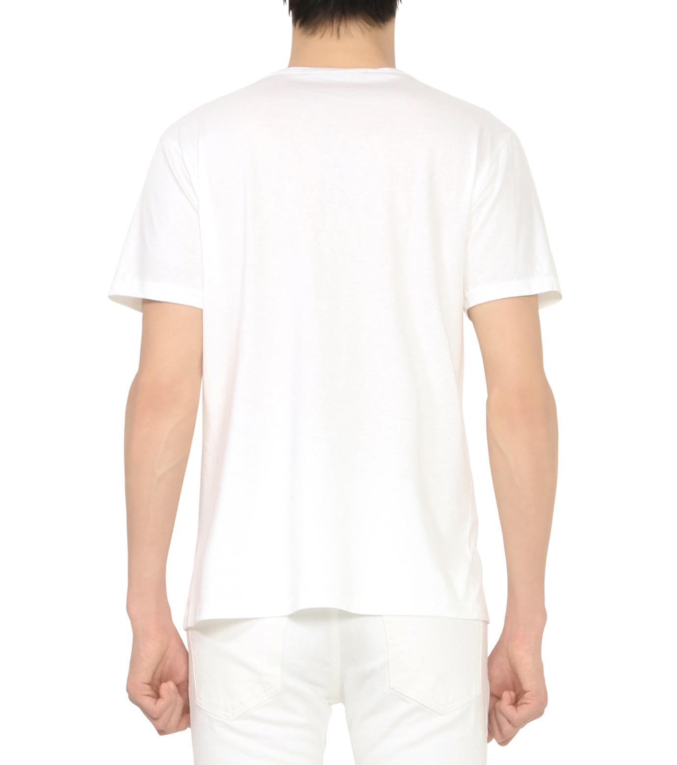 HL HEDDIE LOVU(エイチエル・エディールーヴ)のAPPLE pt TEE-WHITE(カットソー/cut and sewn)-18S92009-4 拡大詳細画像3