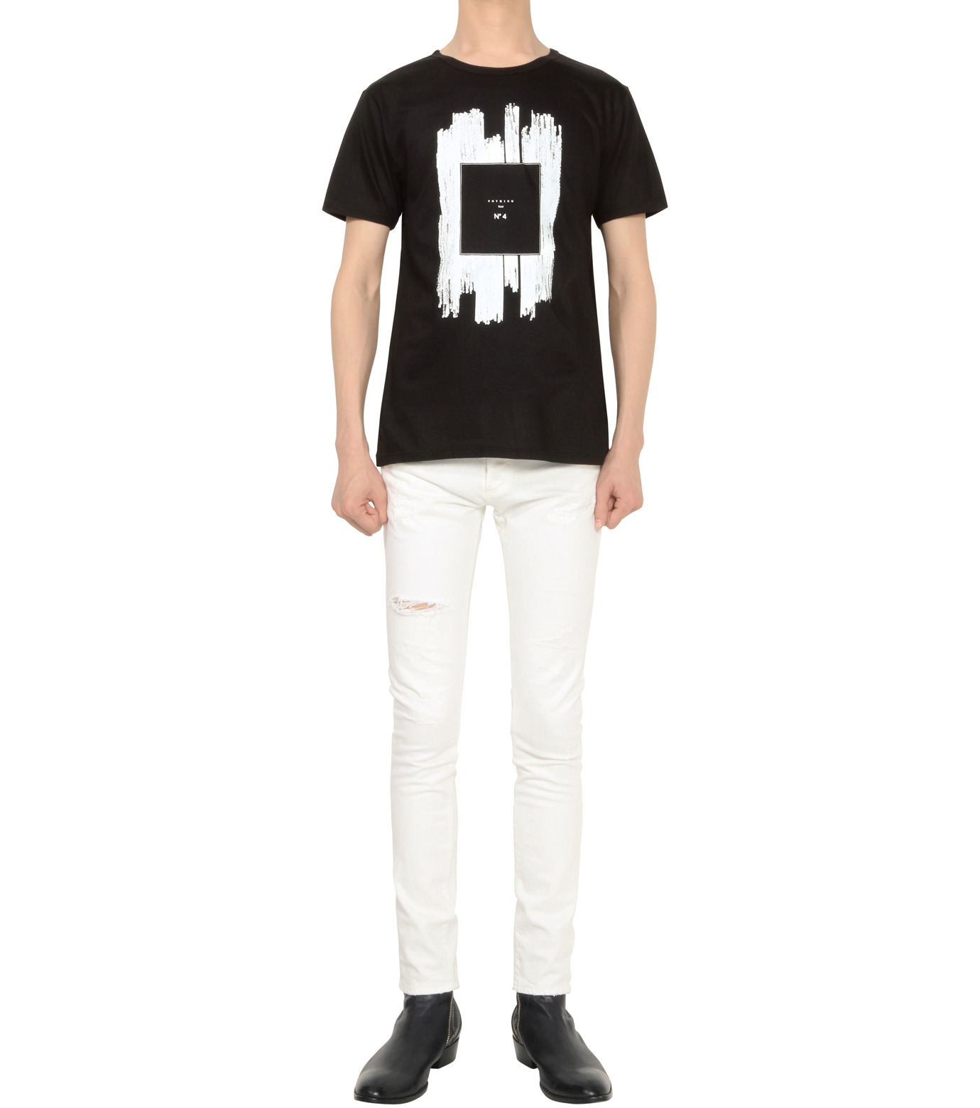 HL HEDDIE LOVU(エイチエル・エディールーヴ)のNOTHING pt TEE-BLACK(カットソー/cut and sewn)-18S92011-13 拡大詳細画像4