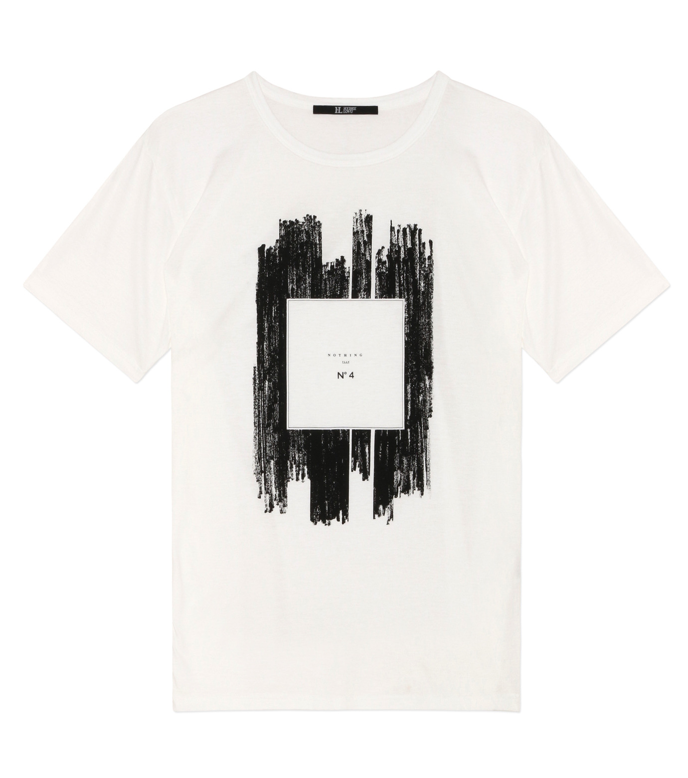 HL HEDDIE LOVU(エイチエル・エディールーヴ)のNOTHING pt TEE-WHITE(カットソー/cut and sewn)-18S92011-4 拡大詳細画像1