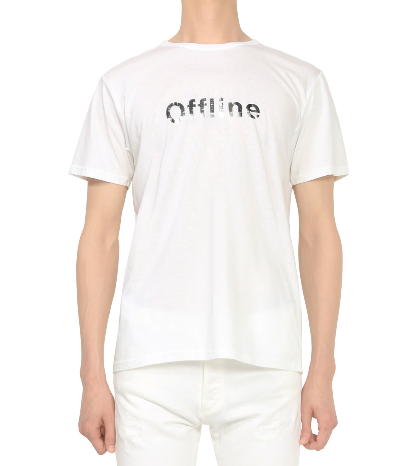 HL HEDDIE LOVU(エイチエル・エディールーヴ)のOFFLINE pt TEE-WHITE(カットソー/cut and sewn)-18S92015-4 拡大詳細画像2