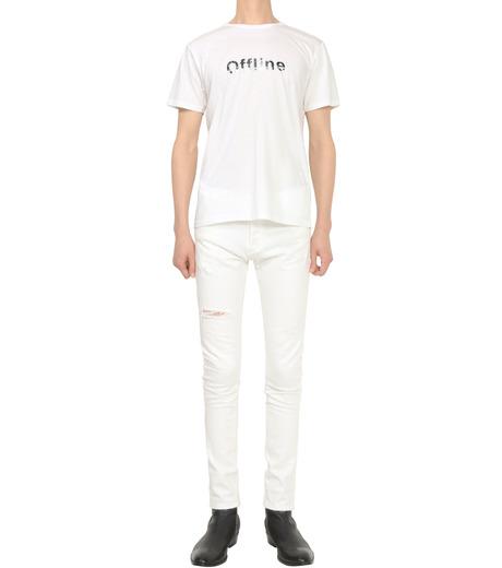 HL HEDDIE LOVU(エイチエル・エディールーヴ)のOFFLINE pt TEE-WHITE(カットソー/cut and sewn)-18S92015-4 詳細画像4