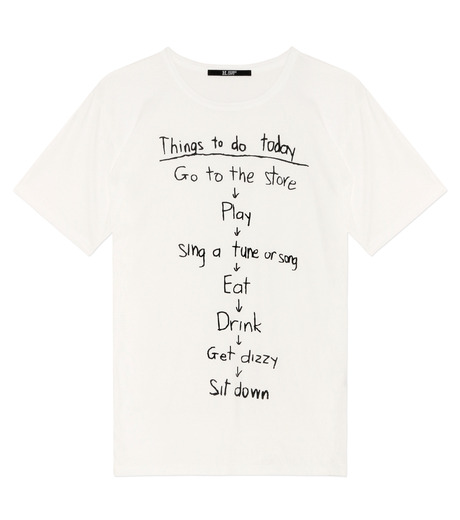 HL HEDDIE LOVU(エイチエル・エディールーヴ)のTHINGS pt TEE-WHITE(カットソー/cut and sewn)-18S92018-4 詳細画像1