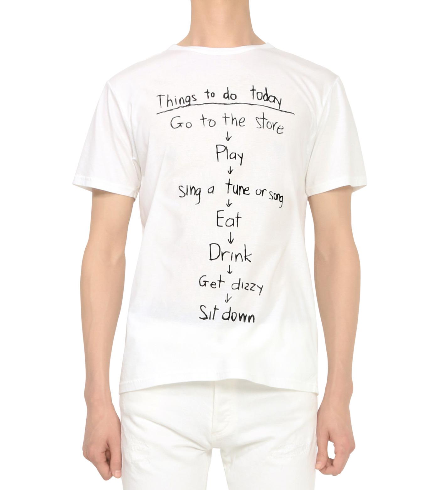 HL HEDDIE LOVU(エイチエル・エディールーヴ)のTHINGS pt TEE-WHITE(カットソー/cut and sewn)-18S92018-4 拡大詳細画像2