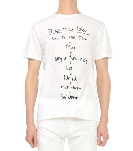 HL HEDDIE LOVU(エイチエル・エディールーヴ)のTHINGS pt TEE-WHITE(カットソー/cut and sewn)-18S92018-4 詳細画像2