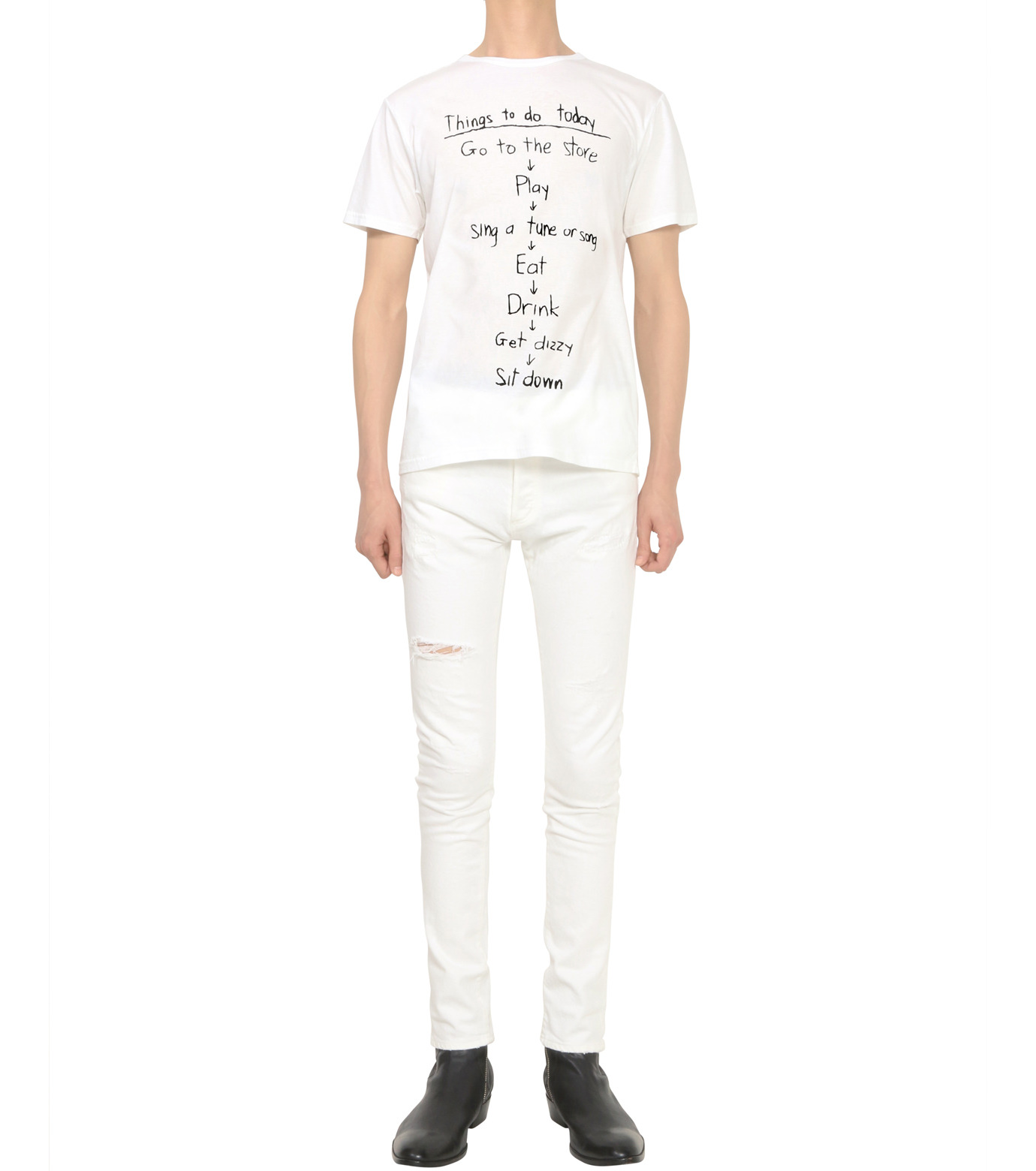 HL HEDDIE LOVU(エイチエル・エディールーヴ)のTHINGS pt TEE-WHITE(カットソー/cut and sewn)-18S92018-4 拡大詳細画像4