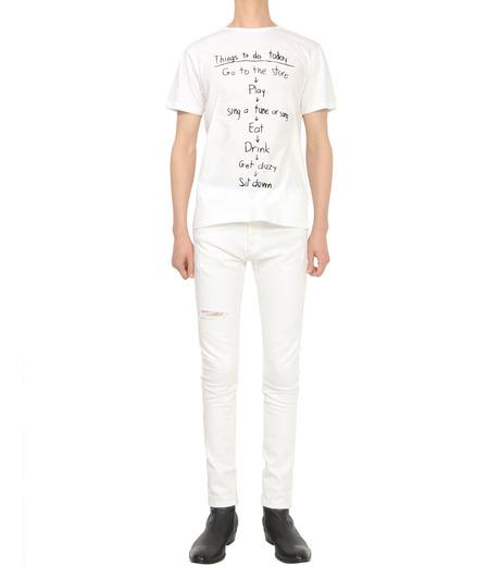 HL HEDDIE LOVU(エイチエル・エディールーヴ)のTHINGS pt TEE-WHITE(カットソー/cut and sewn)-18S92018-4 詳細画像4