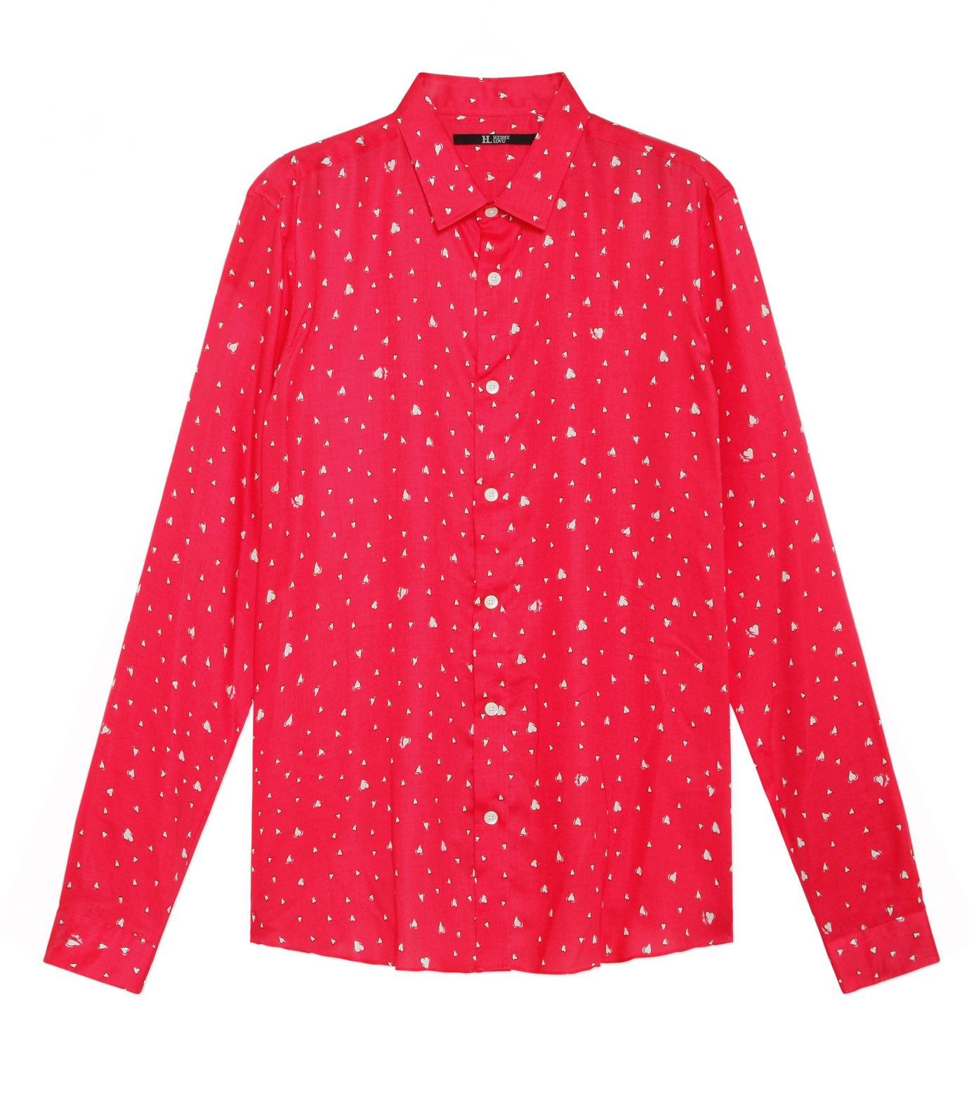 HL HEDDIE LOVU(エイチエル・エディールーヴ)のHEART PATTERN SHIRT-PINK(シャツ/shirt)-18S93001-72 拡大詳細画像1