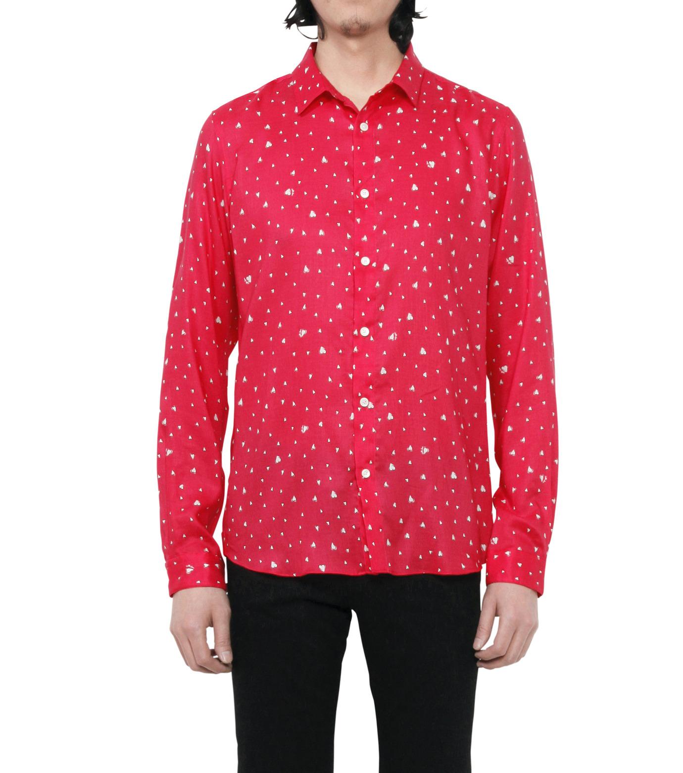 HL HEDDIE LOVU(エイチエル・エディールーヴ)のHEART PATTERN SHIRT-PINK(シャツ/shirt)-18S93001-72 拡大詳細画像3