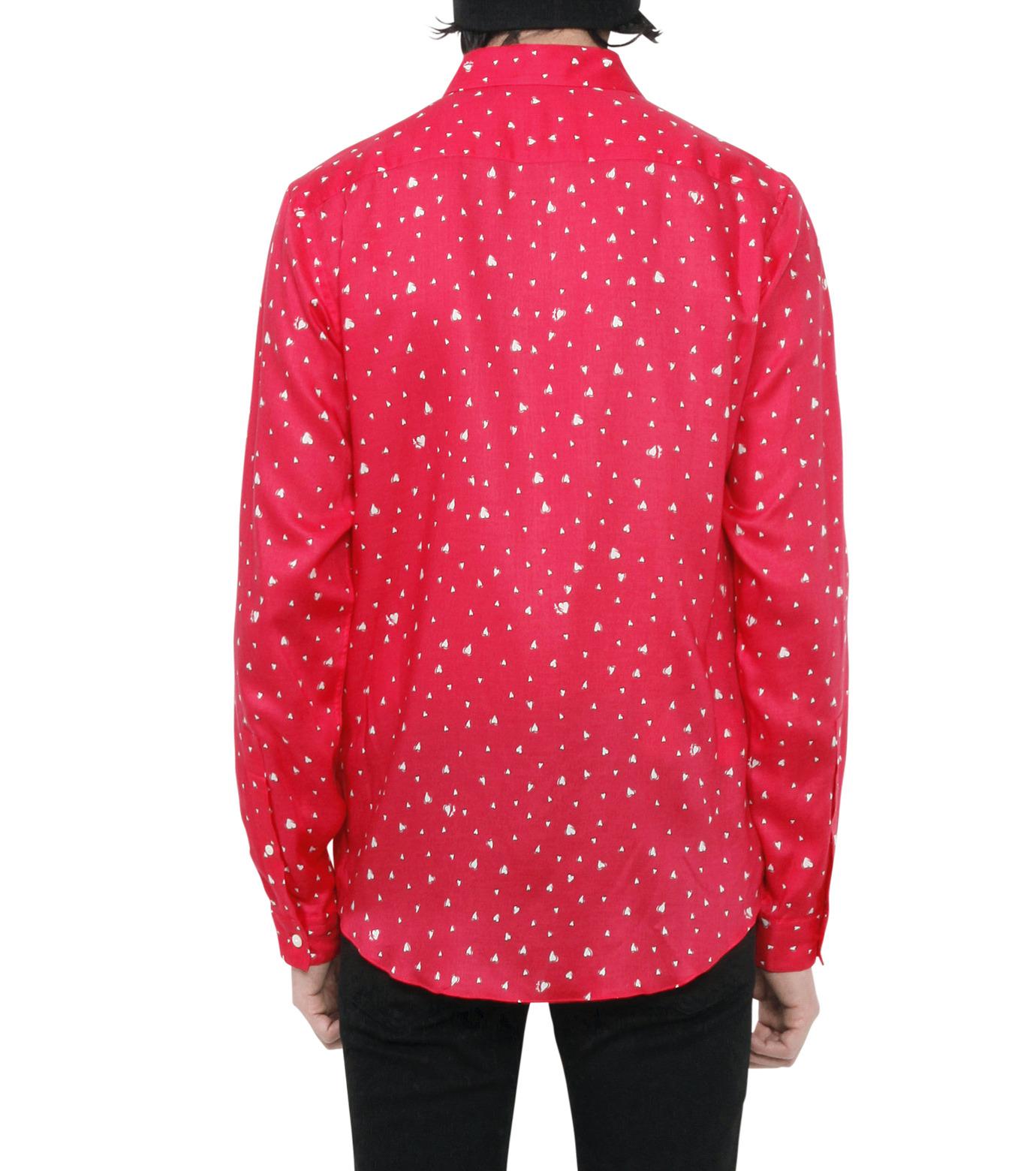 HL HEDDIE LOVU(エイチエル・エディールーヴ)のHEART PATTERN SHIRT-PINK(シャツ/shirt)-18S93001-72 拡大詳細画像4
