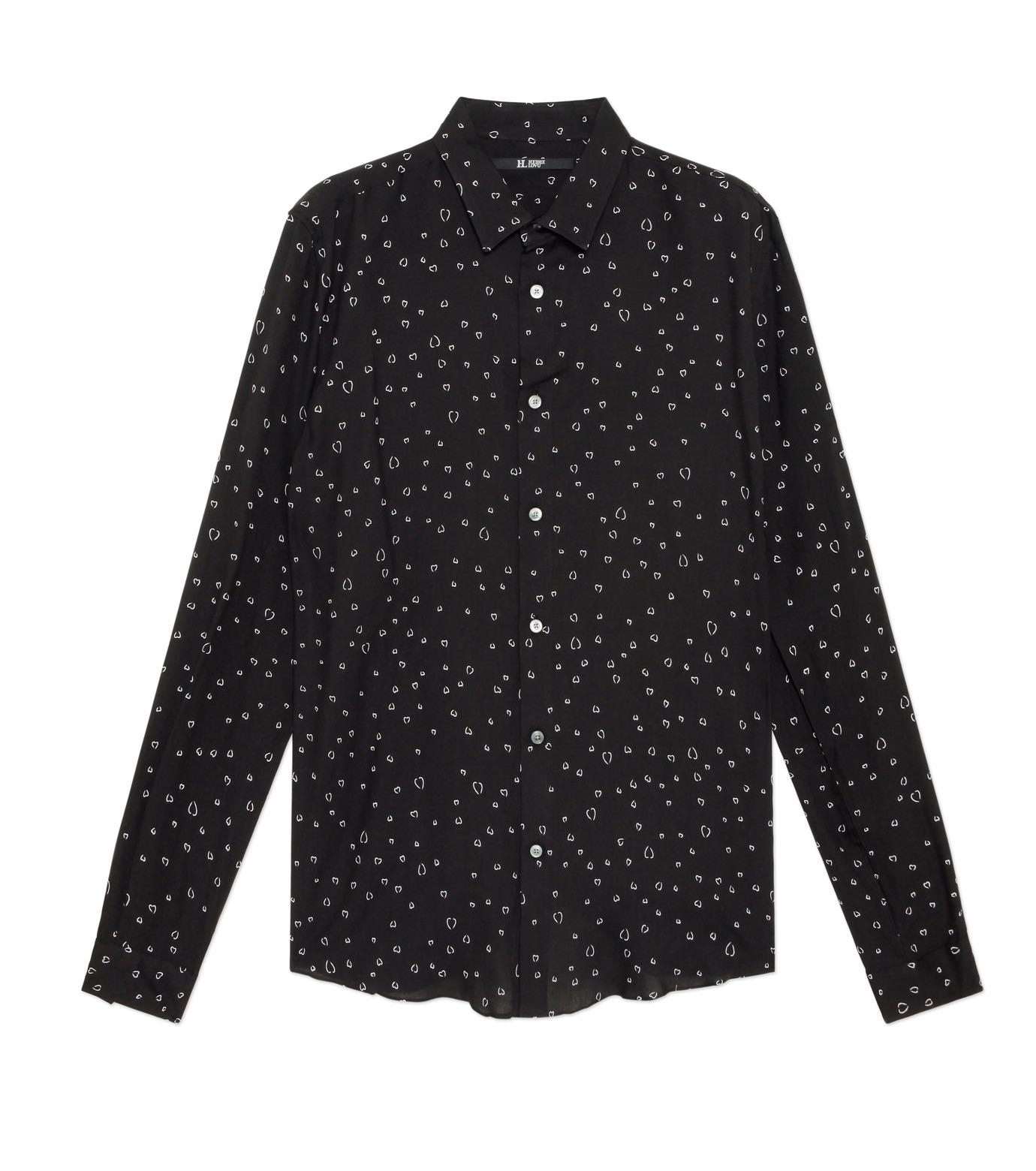 HL HEDDIE LOVU(エイチエル・エディールーヴ)のLINE HEART PATTERN SHIRT-BLACK(シャツ/shirt)-18S93002-13 拡大詳細画像1