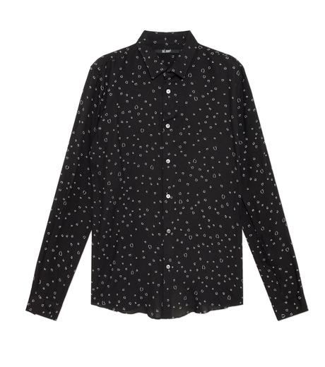 HL HEDDIE LOVU(エイチエル・エディールーヴ)のLINE HEART PATTERN SHIRT-BLACK(シャツ/shirt)-18S93002-13 詳細画像1