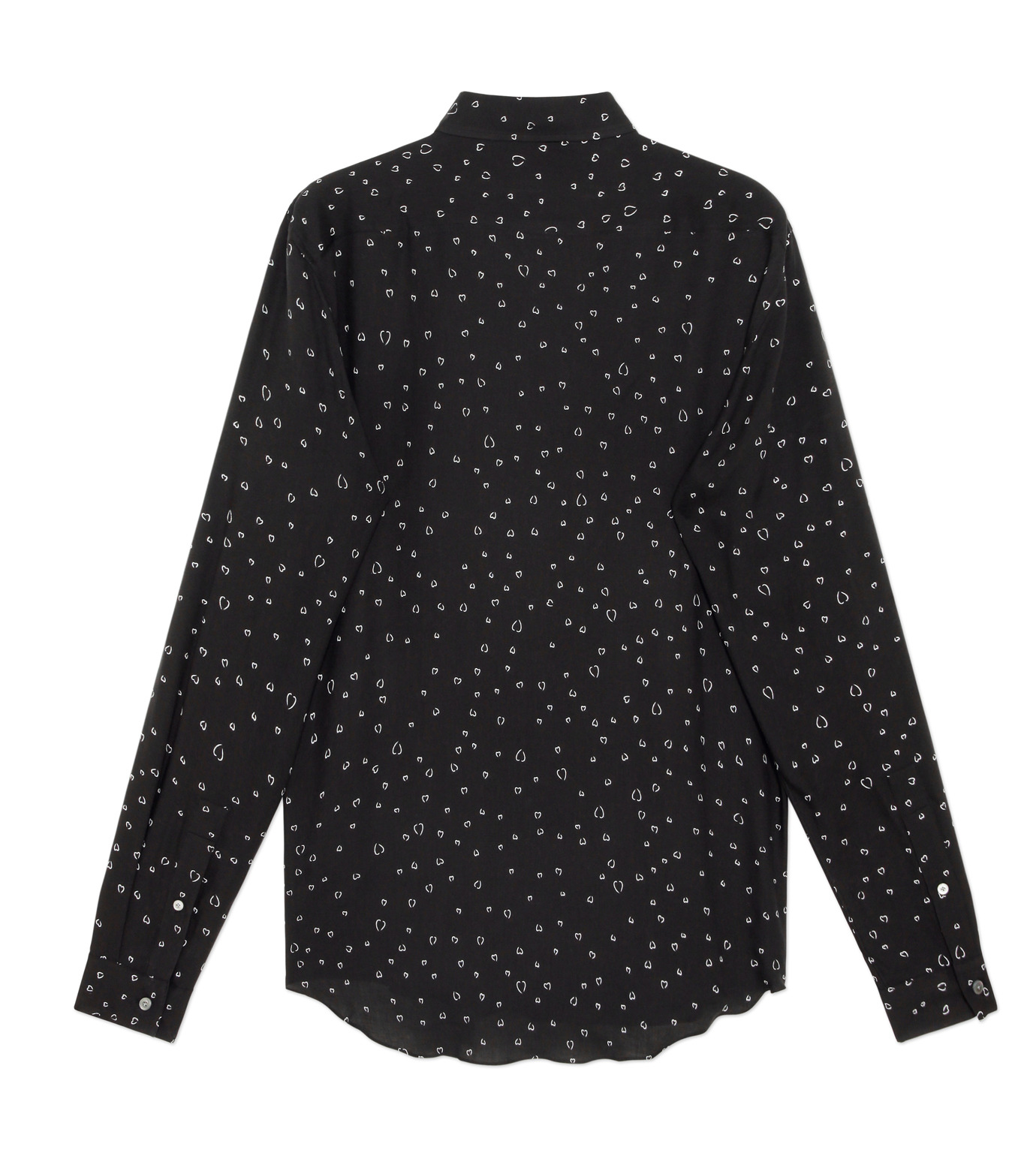 HL HEDDIE LOVU(エイチエル・エディールーヴ)のLINE HEART PATTERN SHIRT-BLACK(シャツ/shirt)-18S93002-13 拡大詳細画像2