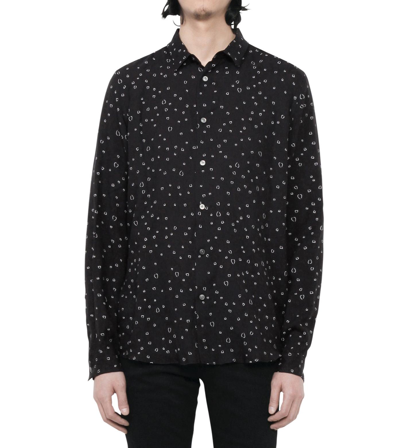 HL HEDDIE LOVU(エイチエル・エディールーヴ)のLINE HEART PATTERN SHIRT-BLACK(シャツ/shirt)-18S93002-13 拡大詳細画像3