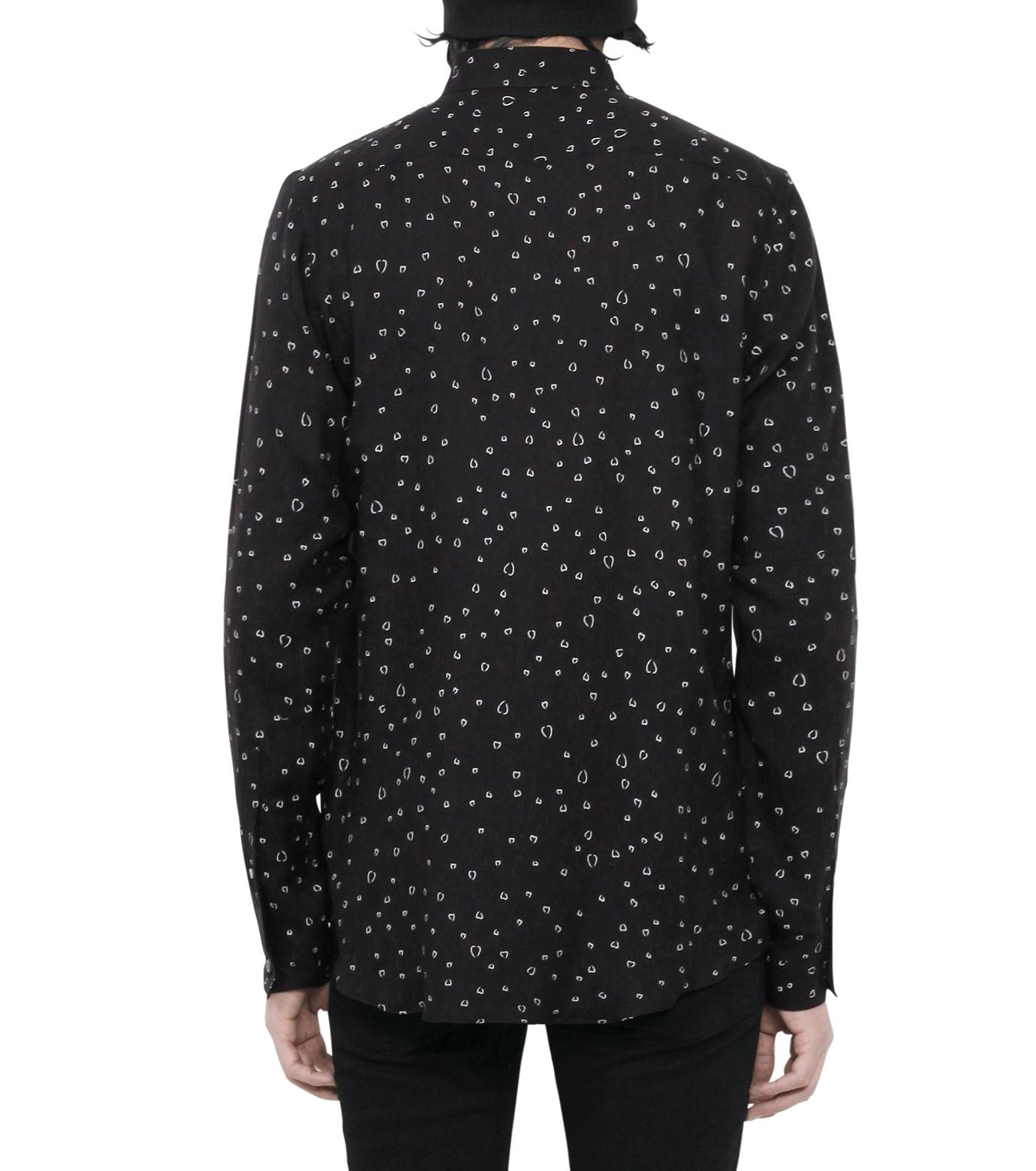 HL HEDDIE LOVU(エイチエル・エディールーヴ)のLINE HEART PATTERN SHIRT-BLACK(シャツ/shirt)-18S93002-13 拡大詳細画像4