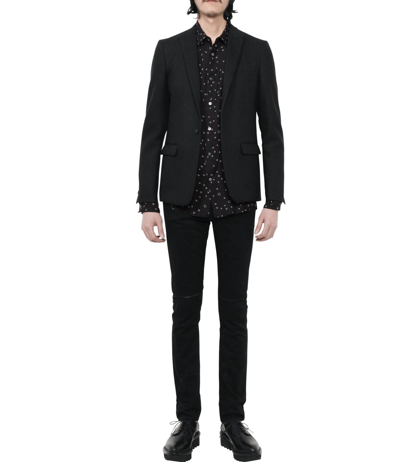 HL HEDDIE LOVU(エイチエル・エディールーヴ)のLINE HEART PATTERN SHIRT-BLACK(シャツ/shirt)-18S93002-13 拡大詳細画像5