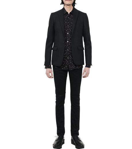 HL HEDDIE LOVU(エイチエル・エディールーヴ)のLINE HEART PATTERN SHIRT-BLACK(シャツ/shirt)-18S93002-13 詳細画像5