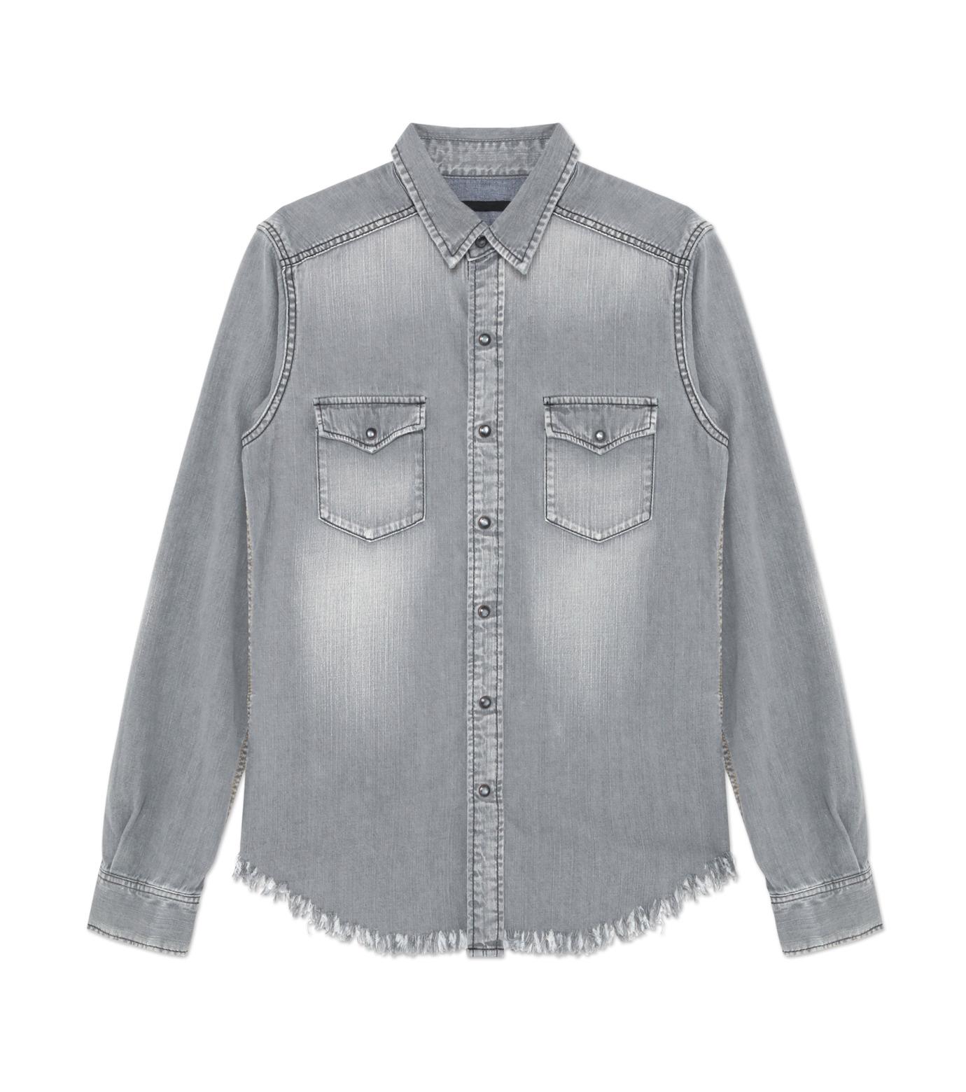 HL HEDDIE LOVU(エイチエル・エディールーヴ)のBK DENIM WASH SHIRT-GRAY(シャツ/shirt)-18S93004-11 拡大詳細画像1