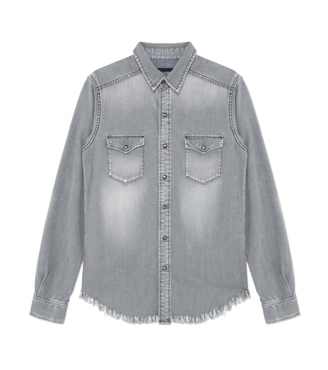 HL HEDDIE LOVU(エイチエル・エディールーヴ)のBK DENIM WASH SHIRT-GRAY(シャツ/shirt)-18S93004-11 詳細画像1