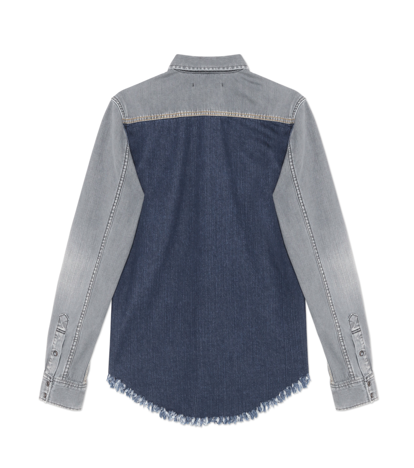 HL HEDDIE LOVU(エイチエル・エディールーヴ)のBK DENIM WASH SHIRT-GRAY(シャツ/shirt)-18S93004-11 拡大詳細画像2