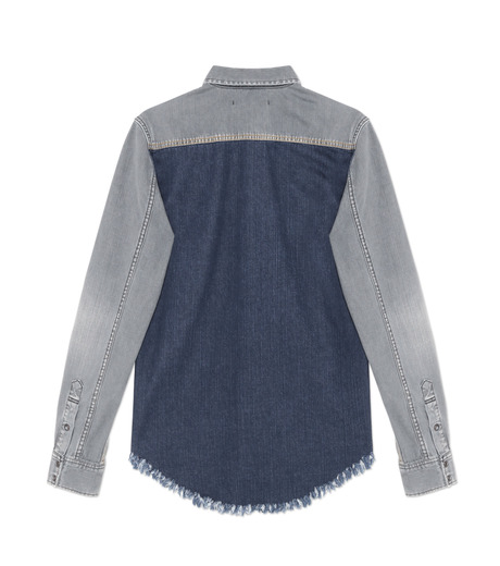HL HEDDIE LOVU(エイチエル・エディールーヴ)のBK DENIM WASH SHIRT-GRAY(シャツ/shirt)-18S93004-11 詳細画像2