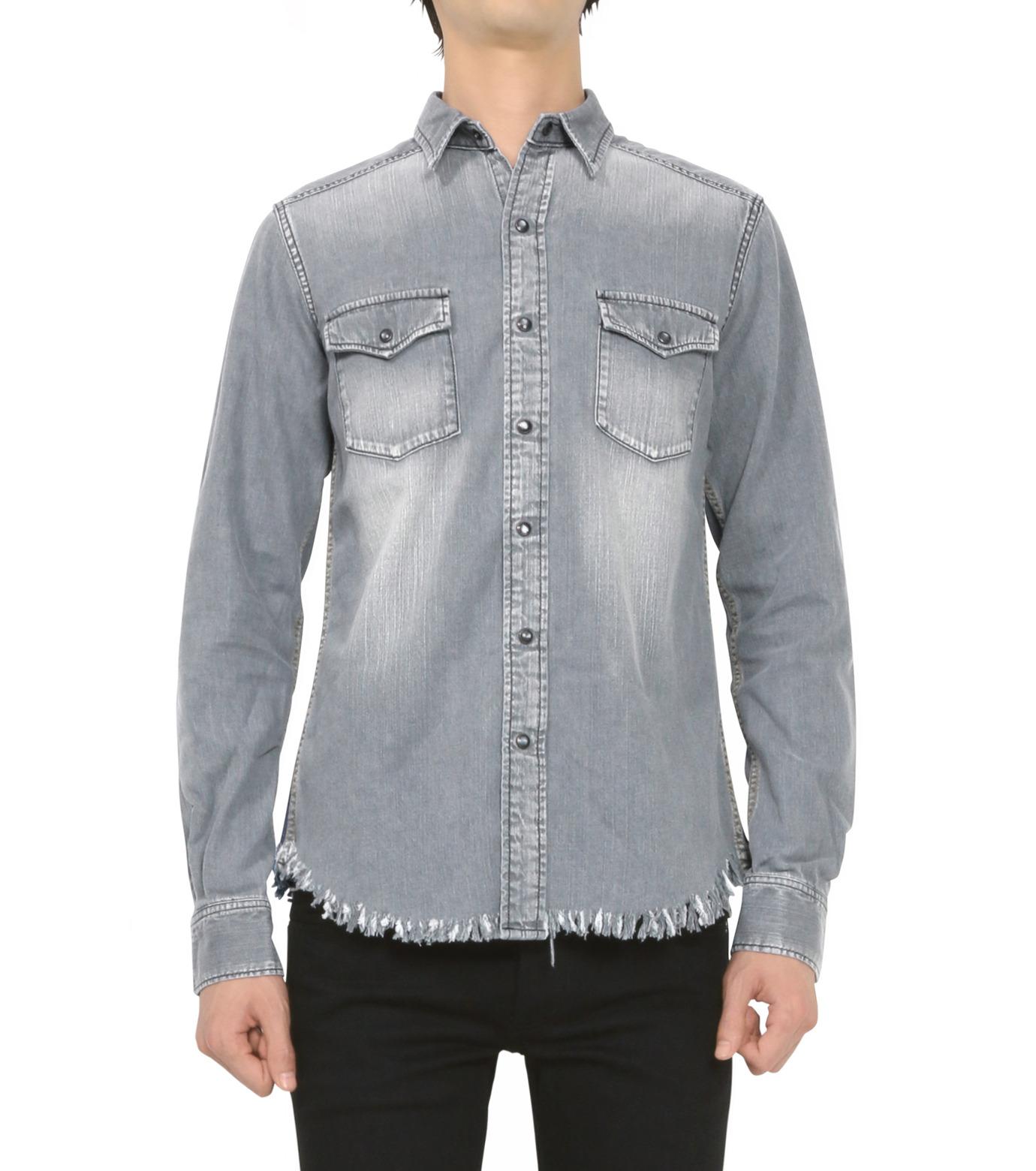 HL HEDDIE LOVU(エイチエル・エディールーヴ)のBK DENIM WASH SHIRT-GRAY(シャツ/shirt)-18S93004-11 拡大詳細画像3