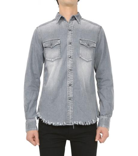 HL HEDDIE LOVU(エイチエル・エディールーヴ)のBK DENIM WASH SHIRT-GRAY(シャツ/shirt)-18S93004-11 詳細画像3