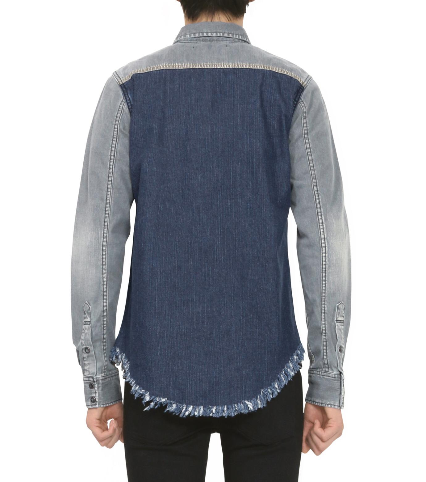 HL HEDDIE LOVU(エイチエル・エディールーヴ)のBK DENIM WASH SHIRT-GRAY(シャツ/shirt)-18S93004-11 拡大詳細画像4