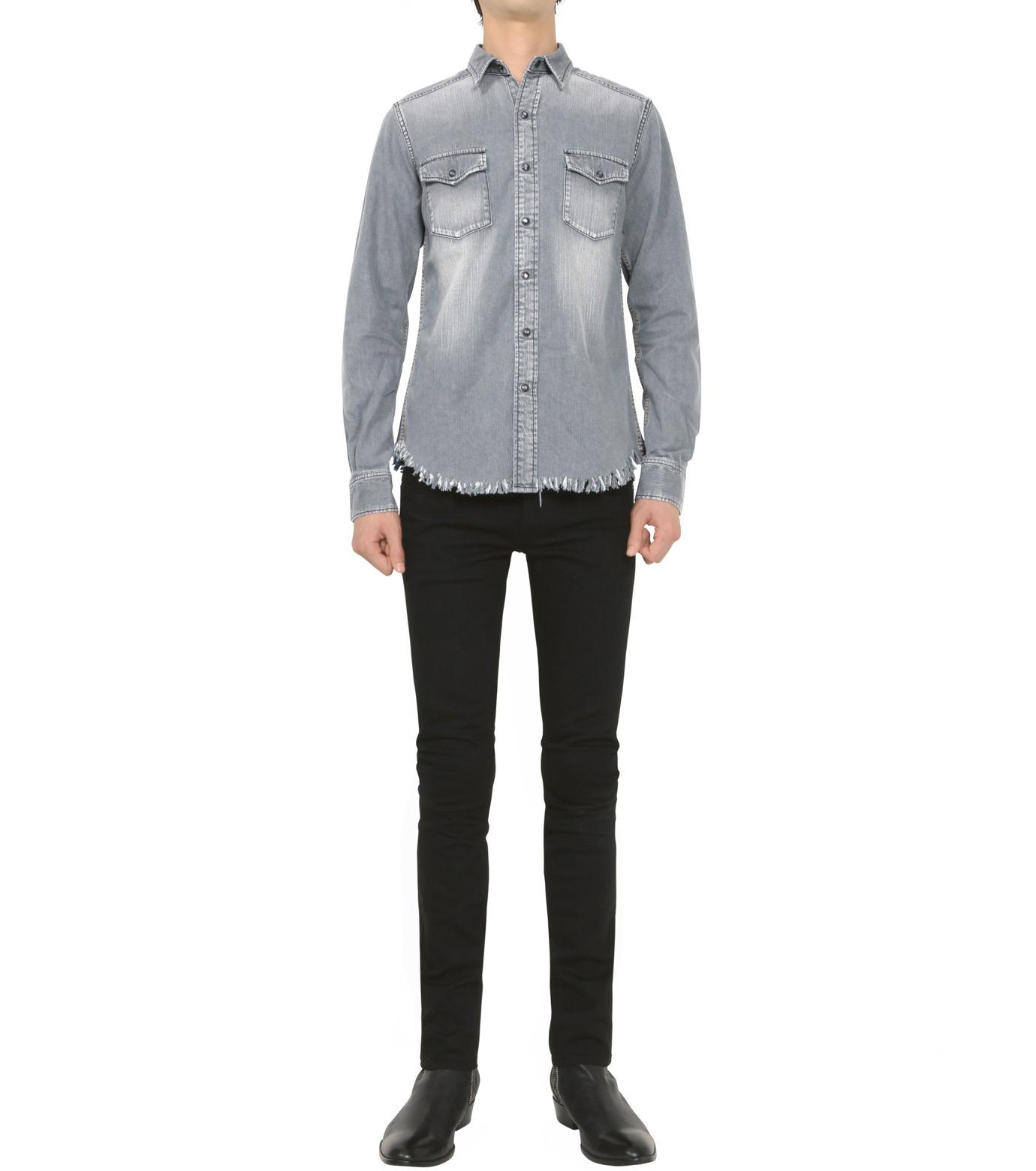 HL HEDDIE LOVU(エイチエル・エディールーヴ)のBK DENIM WASH SHIRT-GRAY(シャツ/shirt)-18S93004-11 拡大詳細画像5