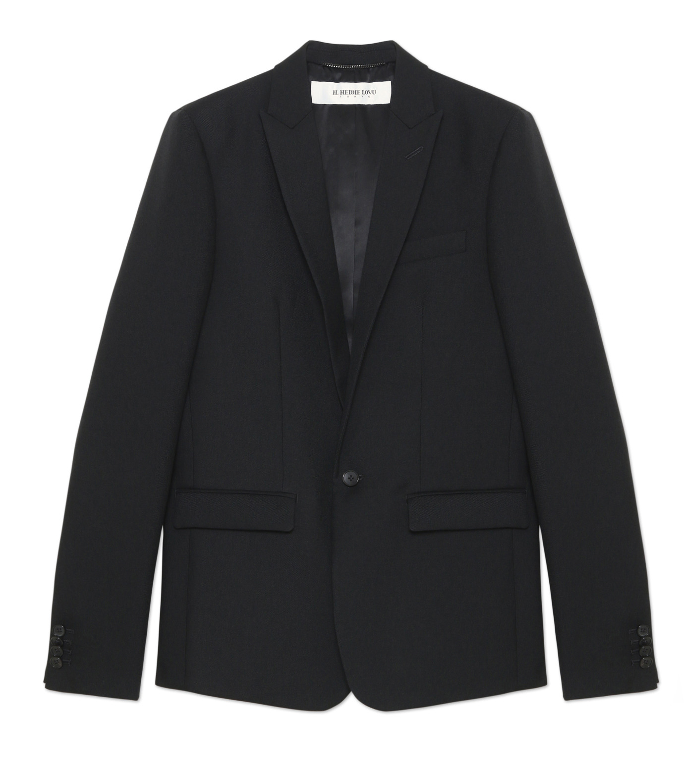 HL HEDDIE LOVU(エイチエル・エディールーヴ)のPEAKED LAPEL 1B JK-BLACK(ジャケット/jacket)-18S94005-13 拡大詳細画像4