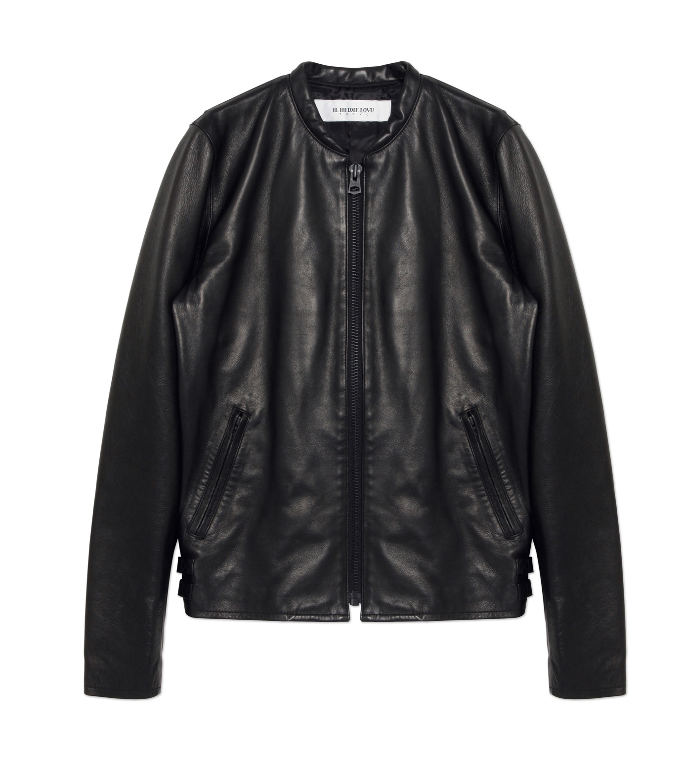 HL HEDDIE LOVU(エイチエル・エディールーヴ)のMINIMUM COLLAR LEATHER JACKET-BLACK(ジャケット/jacket)-18S94006-13 拡大詳細画像1