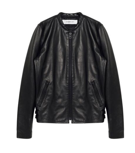 HL HEDDIE LOVU(エイチエル・エディールーヴ)のMINIMUM COLLAR LEATHER JACKET-BLACK(ジャケット/jacket)-18S94006-13 詳細画像1