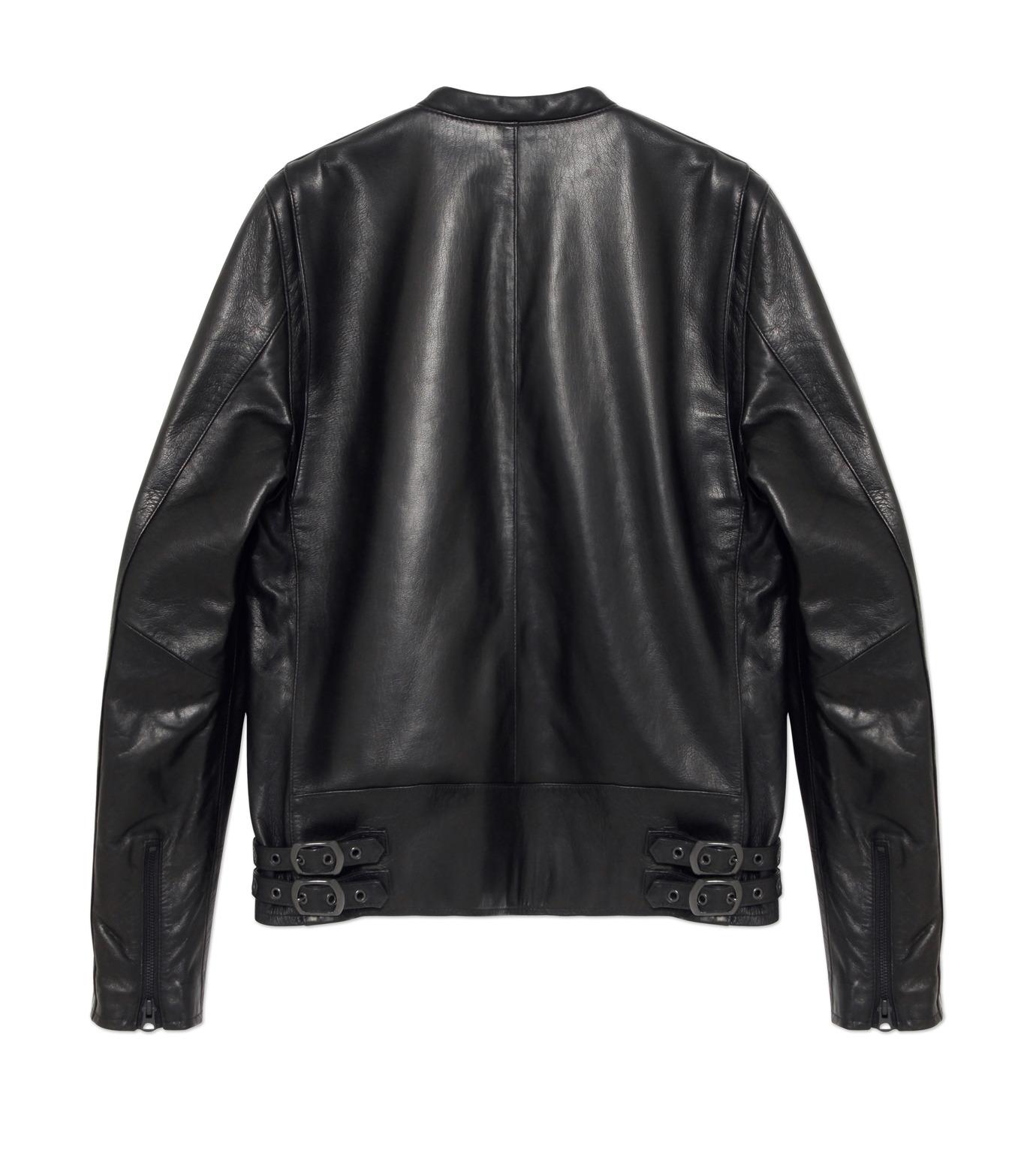 HL HEDDIE LOVU(エイチエル・エディールーヴ)のMINIMUM COLLAR LEATHER JACKET-BLACK(ジャケット/jacket)-18S94006-13 拡大詳細画像2