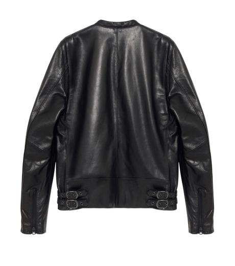 HL HEDDIE LOVU(エイチエル・エディールーヴ)のMINIMUM COLLAR LEATHER JACKET-BLACK(ジャケット/jacket)-18S94006-13 詳細画像2