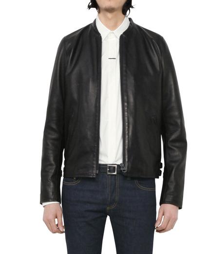 HL HEDDIE LOVU(エイチエル・エディールーヴ)のMINIMUM COLLAR LEATHER JACKET-BLACK(ジャケット/jacket)-18S94006-13 詳細画像3
