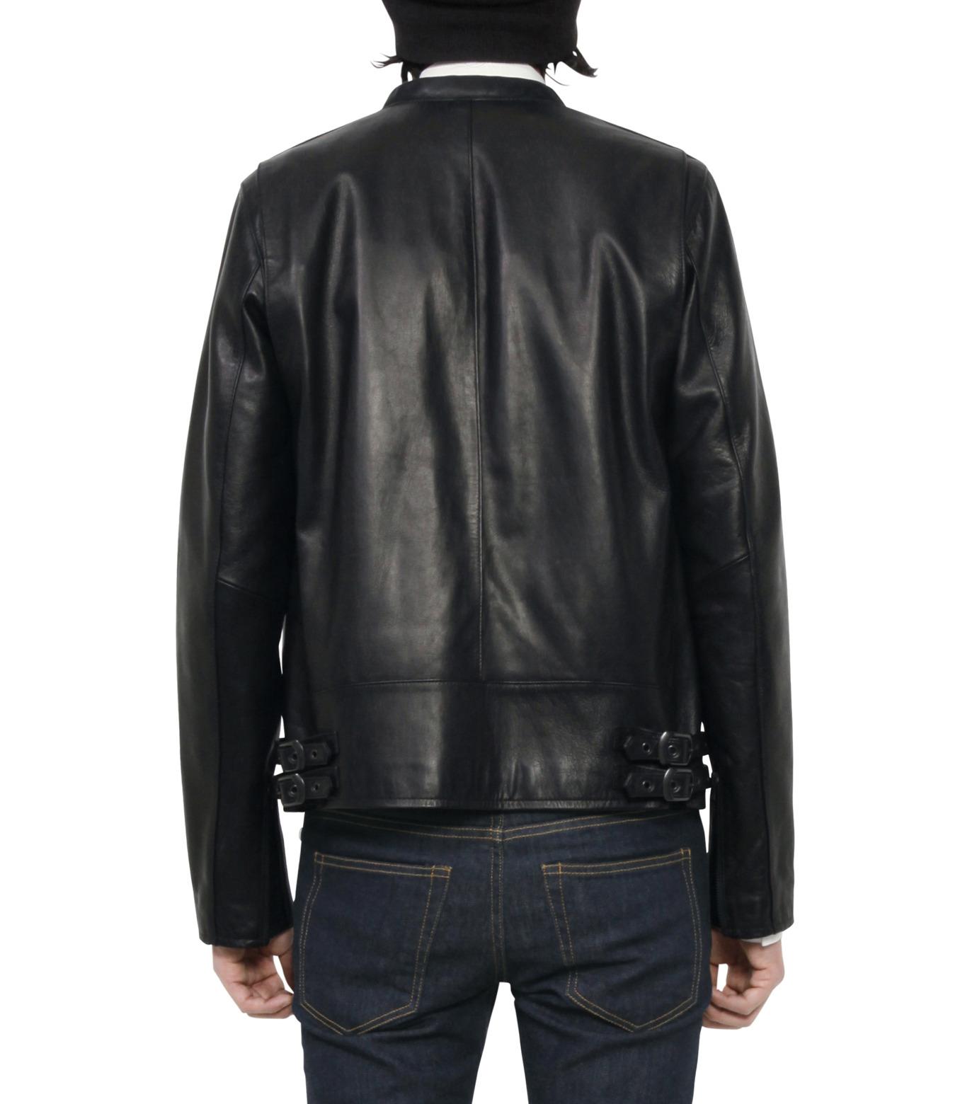 HL HEDDIE LOVU(エイチエル・エディールーヴ)のMINIMUM COLLAR LEATHER JACKET-BLACK(ジャケット/jacket)-18S94006-13 拡大詳細画像4