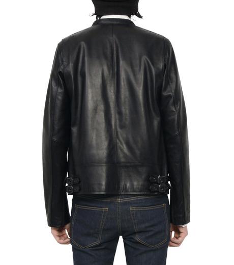 HL HEDDIE LOVU(エイチエル・エディールーヴ)のMINIMUM COLLAR LEATHER JACKET-BLACK(ジャケット/jacket)-18S94006-13 詳細画像4