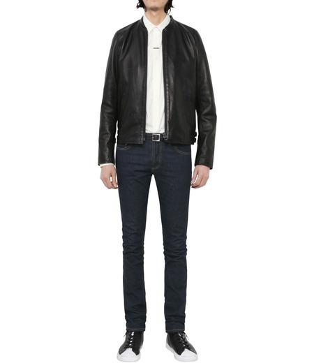 HL HEDDIE LOVU(エイチエル・エディールーヴ)のMINIMUM COLLAR LEATHER JACKET-BLACK(ジャケット/jacket)-18S94006-13 詳細画像5