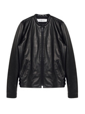 HL HEDDIE LOVU MINIMUM COLLAR LEATHER JACKET